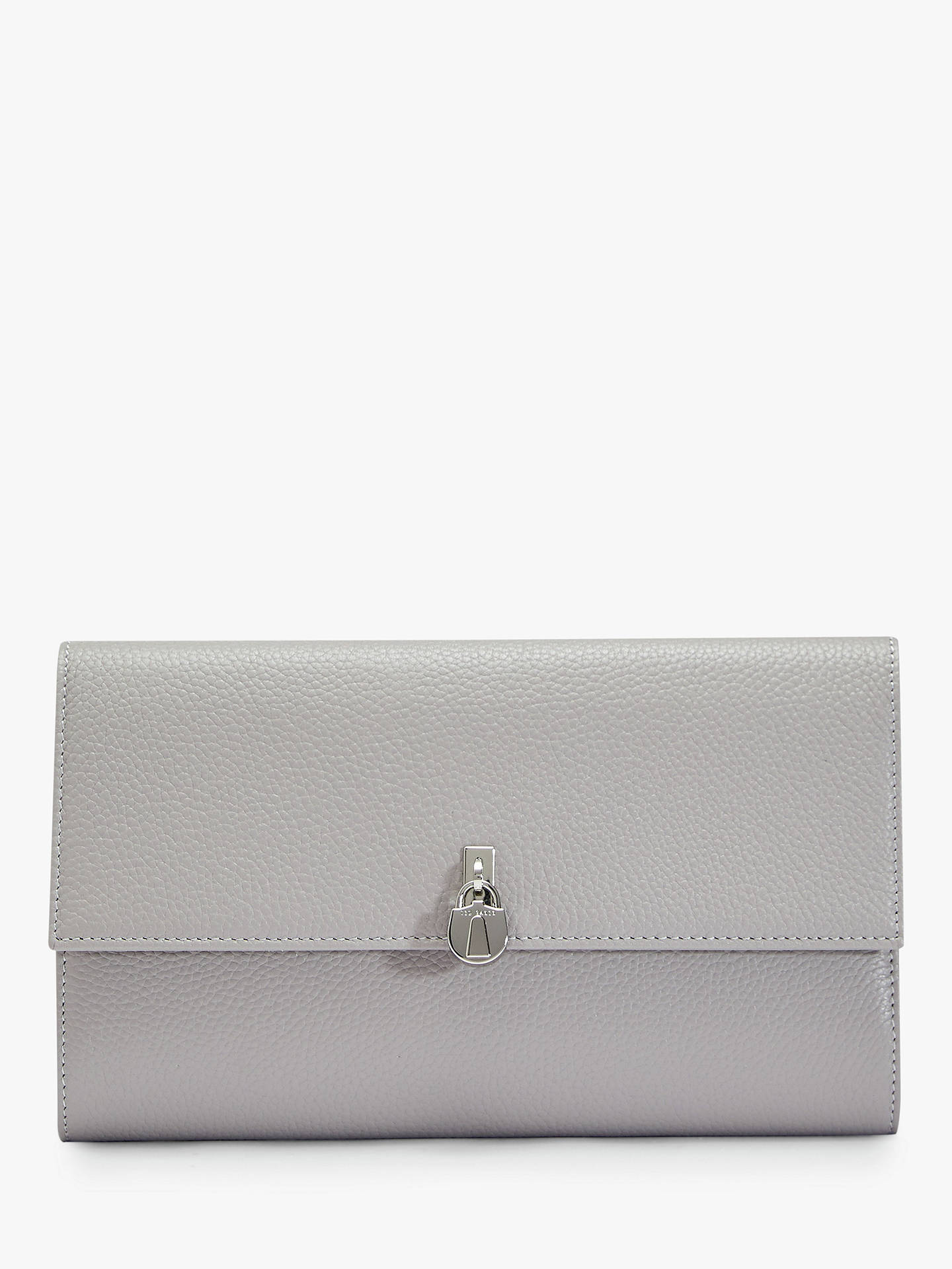 Ted Baker Rosem Leather Travel Document Wallet, Mid Grey by Ted Baker