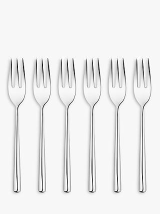 John Lewis & Partners Wave Pastry Forks, Set of 6