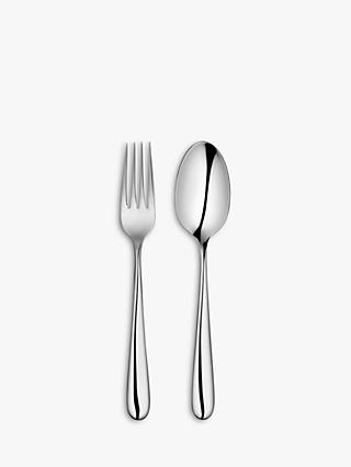 John Lewis & Partners Arc Dessert Cutlery, 6 Place Settings