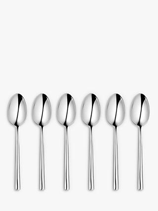John Lewis & Partners Wave Teaspoons, Set of 6