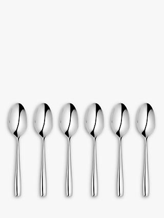 John Lewis & Partners Edge Teaspoons, Set of 6