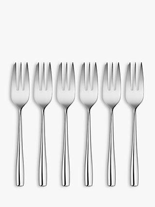 John Lewis & Partners Edge Pastry Forks, Set of 6