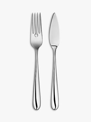John Lewis & Partners Arc Fish Cutlery, 6 Place Settings