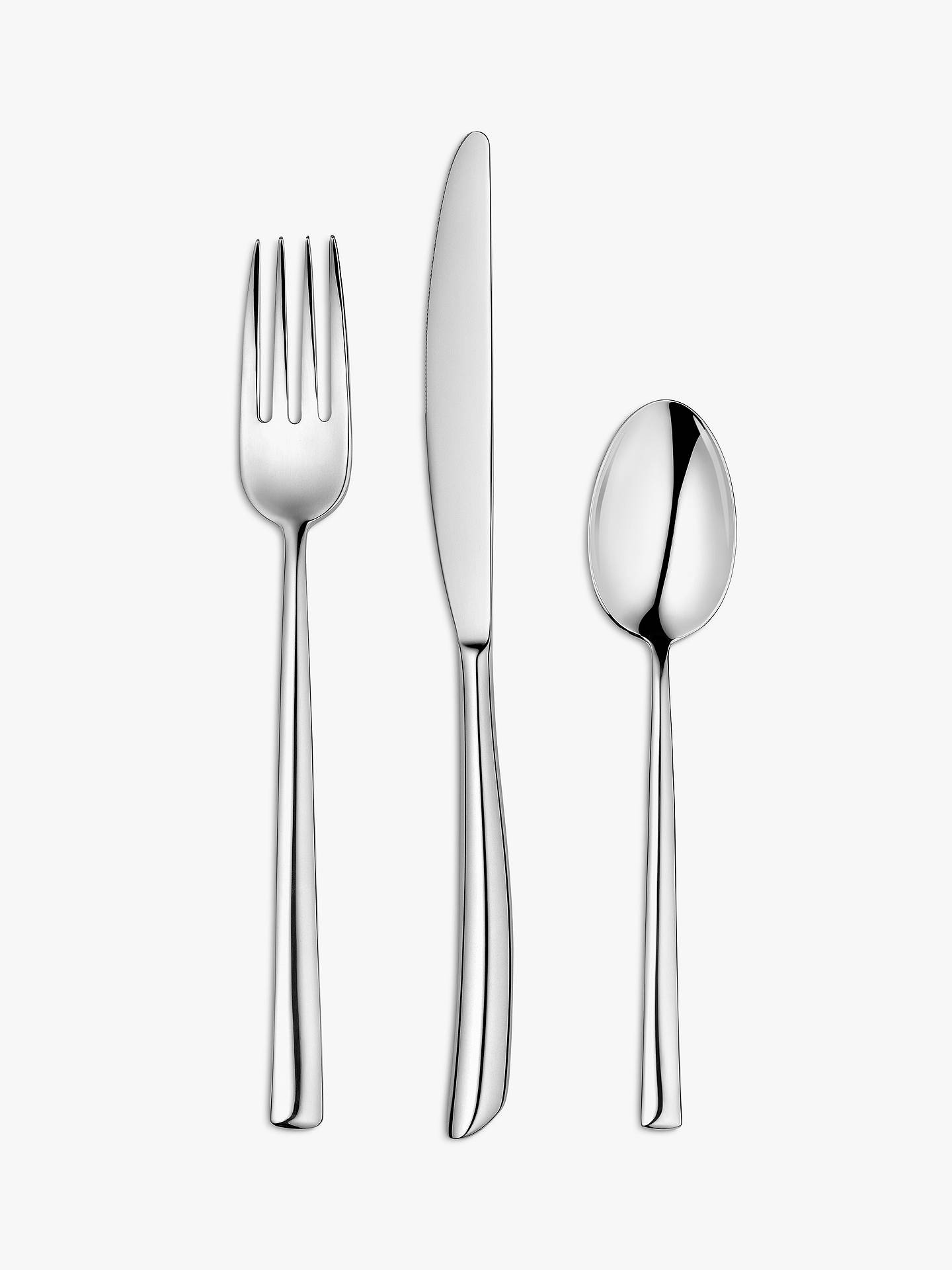 Buy John Lewis & Partners Wave Cutlery Set, 2 Place Setttings Online at johnlewis.com