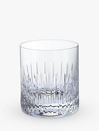 Dartington Crystal Limelight Cut Glass Tumblers, Set of 2, 380ml, Clear
