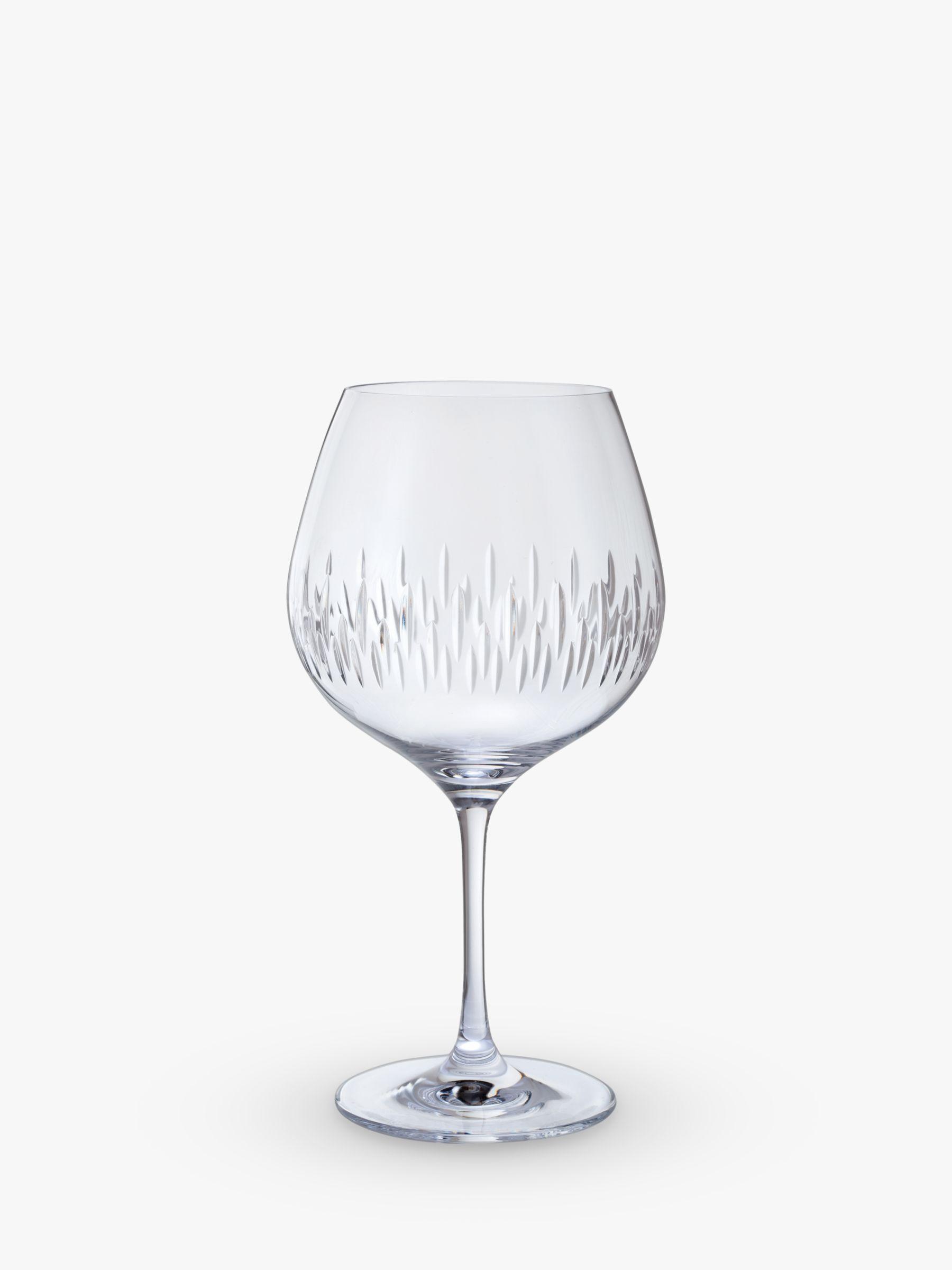 Dartington Crystal Dartington Crystal Limelight Cut Glass Gin Copa Glasses, Set of 2, 610ml, Clear