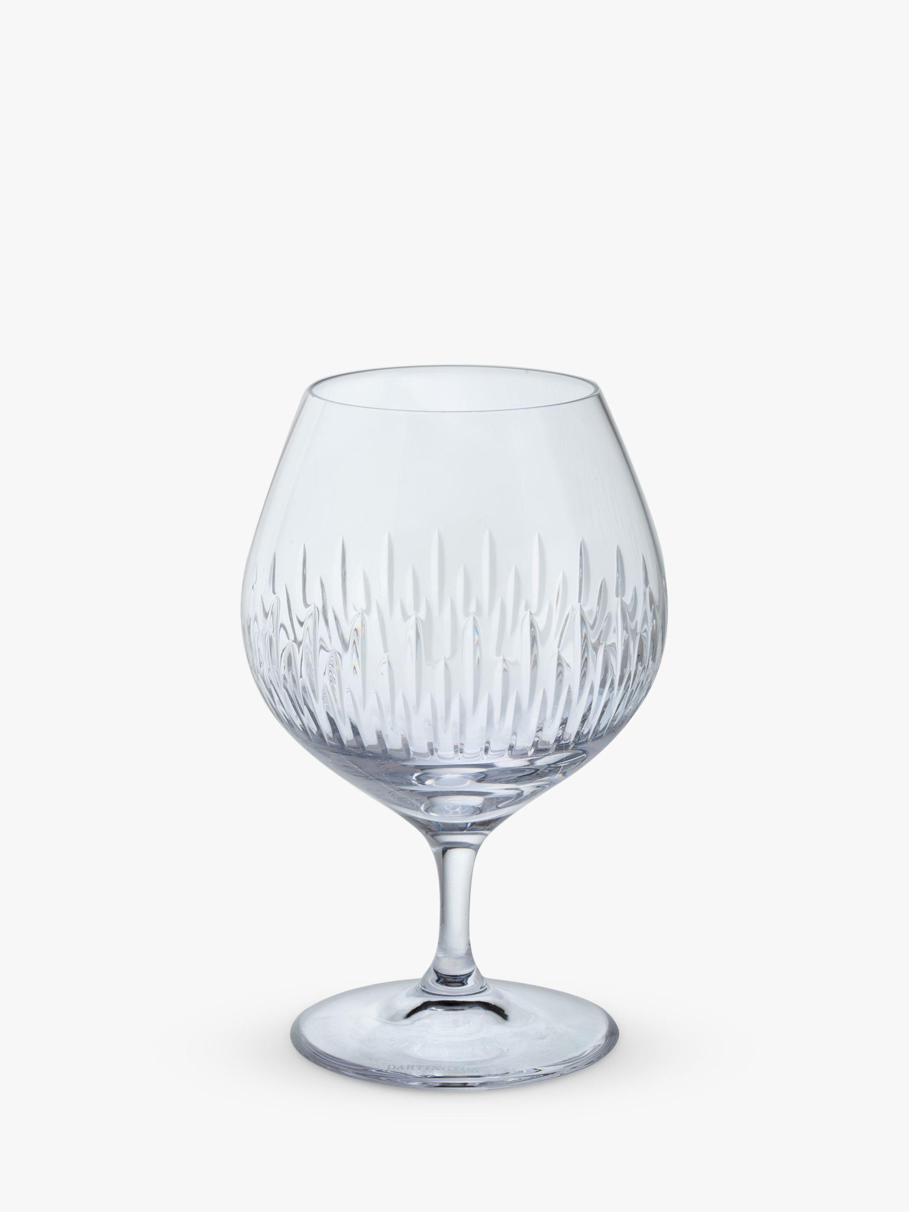 Dartington Crystal Dartington Crystal Limelight Cut Glass Brandy Glasses, 400ml, Set of 2, Clear