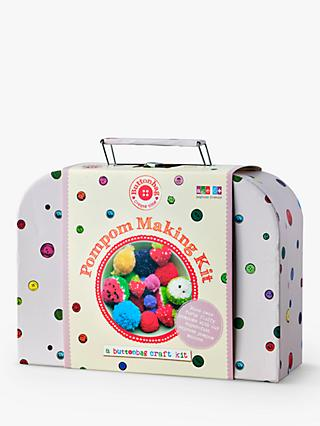 Buttonbag Pom Pom Craft Kit Suitcase