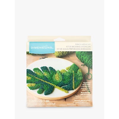 Image of Dimensions Punch Needle Leaves Craft Kit
