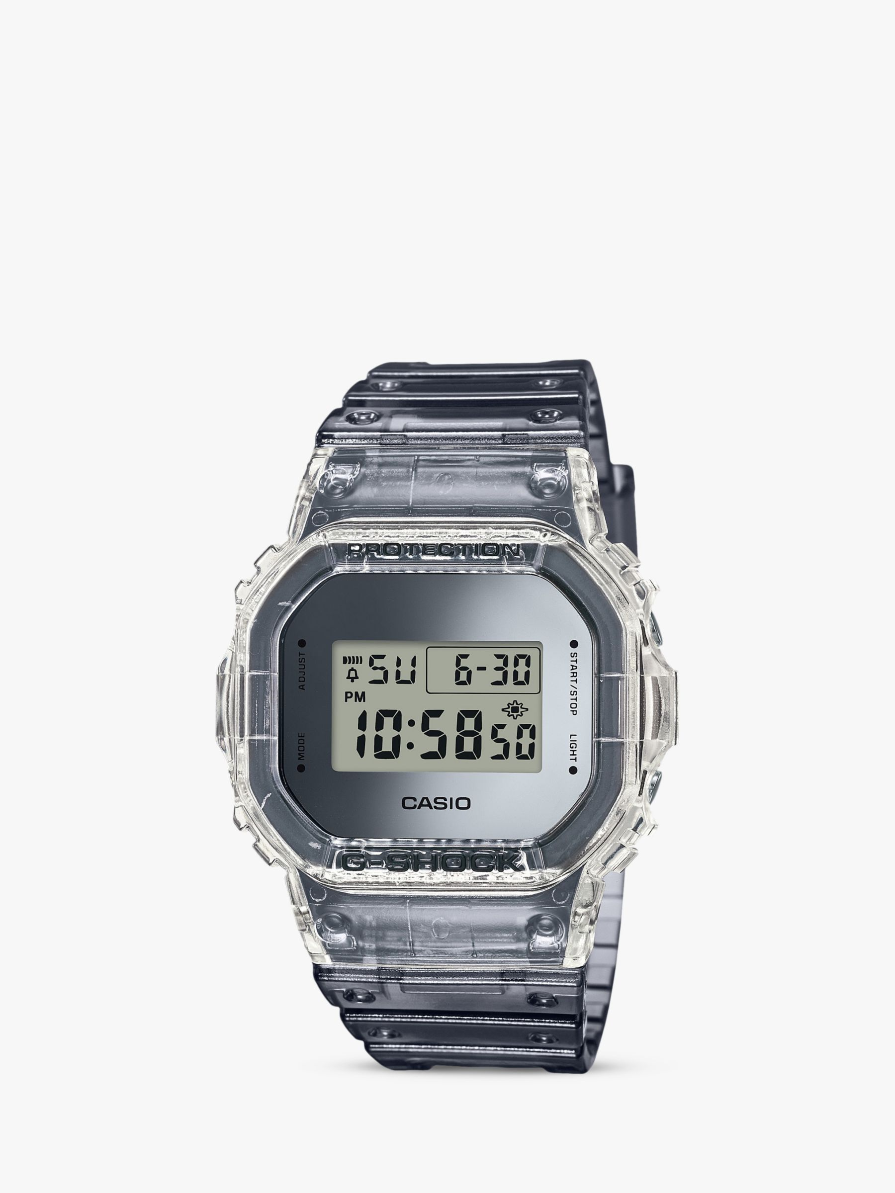 Casio Casio Men's G-Shock Digital Resin Strap Watch, Grey DW-5600SK-1ER
