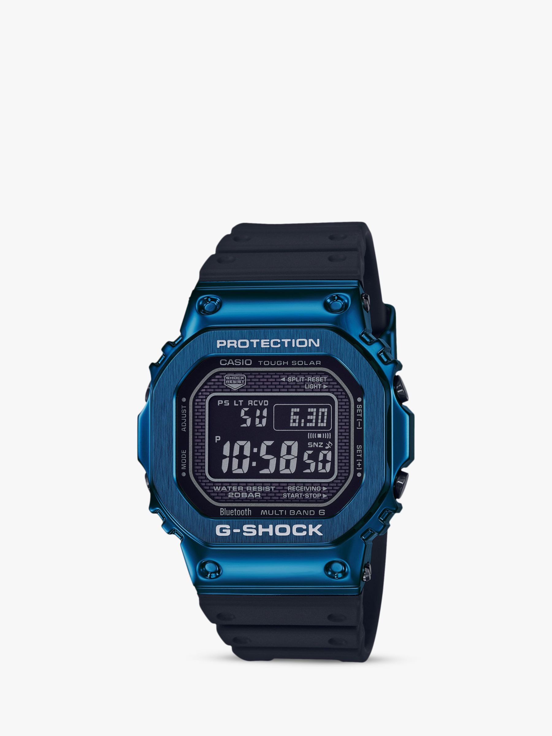 Casio Casio Men's G-Shock GMW-B5000G-2ER Digital Resin Strap Watch, Black/Blue