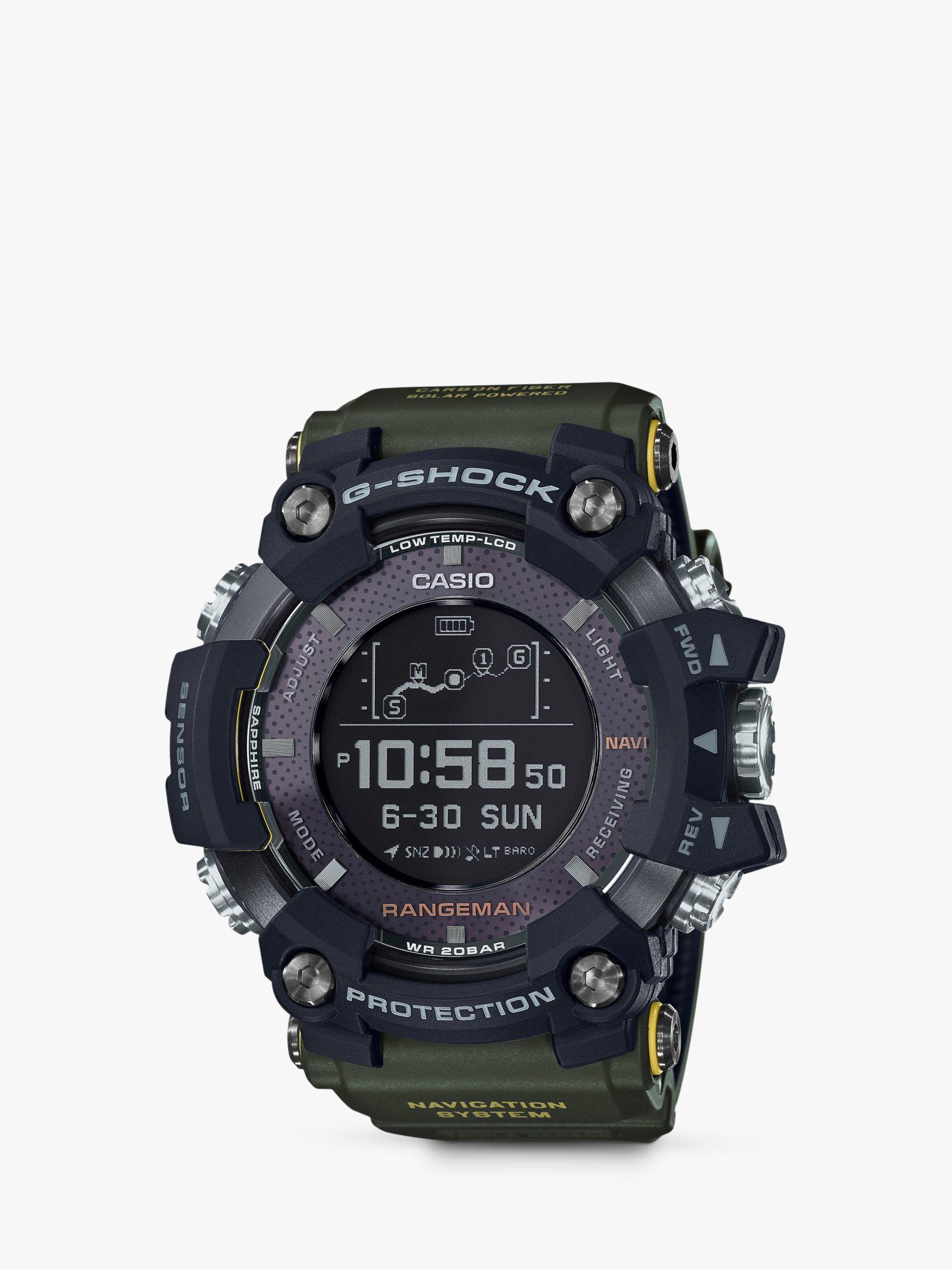Casio Casio GPR-B1000-1BER Men's G-Shock Rangeman Resin Strap Watch, Green/Black