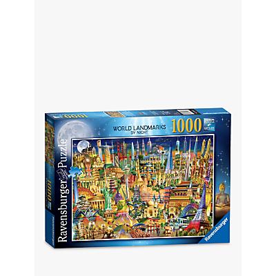 Image of Ravensburger World Landmarks by Night Jigsaw Puzzle, 1000 Pieces