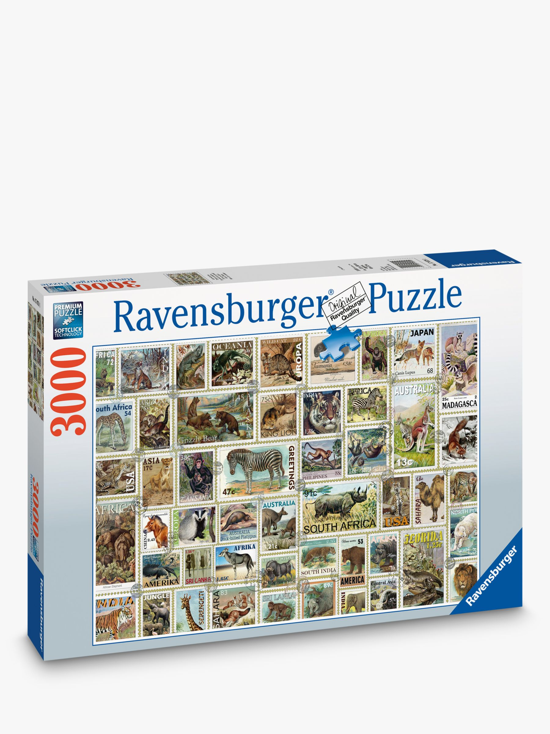 Ravensburger Ravensburger Animal Stamps Jigsaw Puzzle, 3000 Pieces