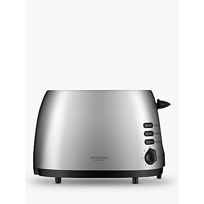 John Lewis & Partners 2-Slice Toaster, Silver