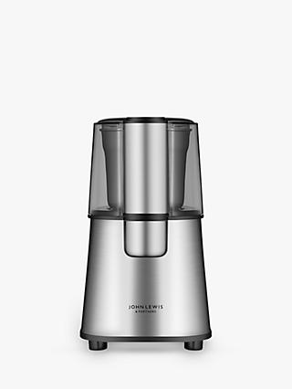 John Lewis & Partners Coffee Grinder, Stainless Steel