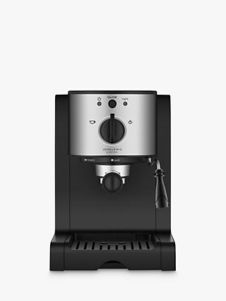 John Lewis & Partners Pump Espresso Coffee Machine, Stainless Steel