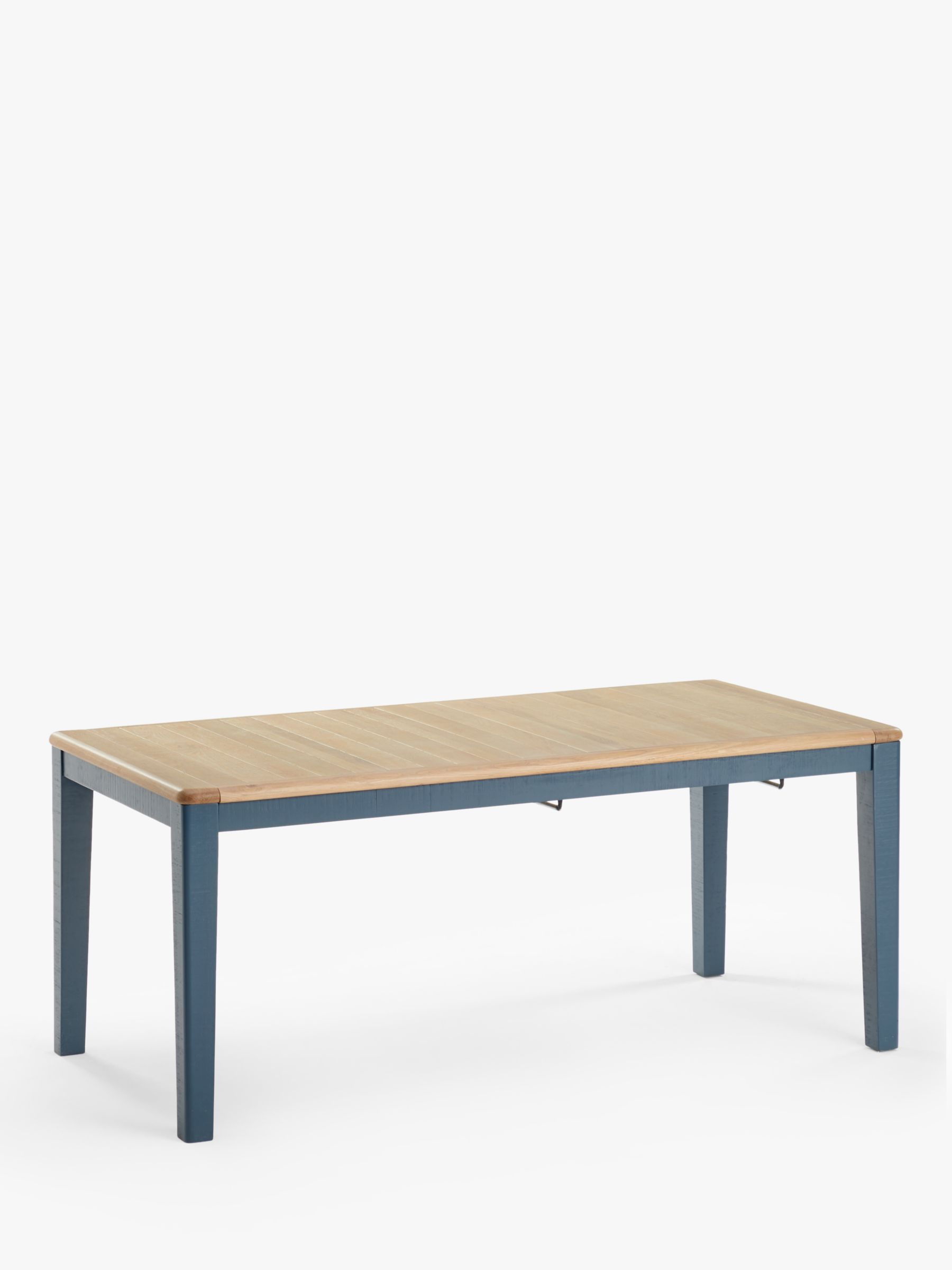 Loaf Chow 8 12 Seater Extending Dining Table Solid Oak Inky Blue At John Lewis Partners