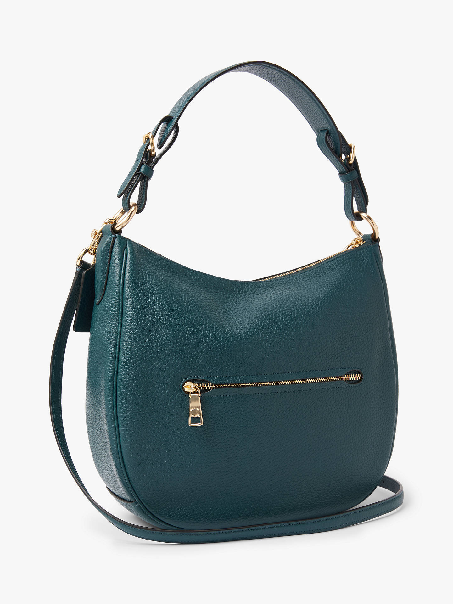 05ec899e9225d ... Buy Coach Sutton Pebbled Leather Hobo Bag, Peacock Online at  johnlewis.com ...