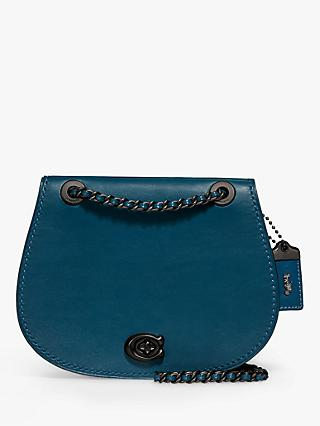 Coach Parker Leather Saddle Bag, Peacock