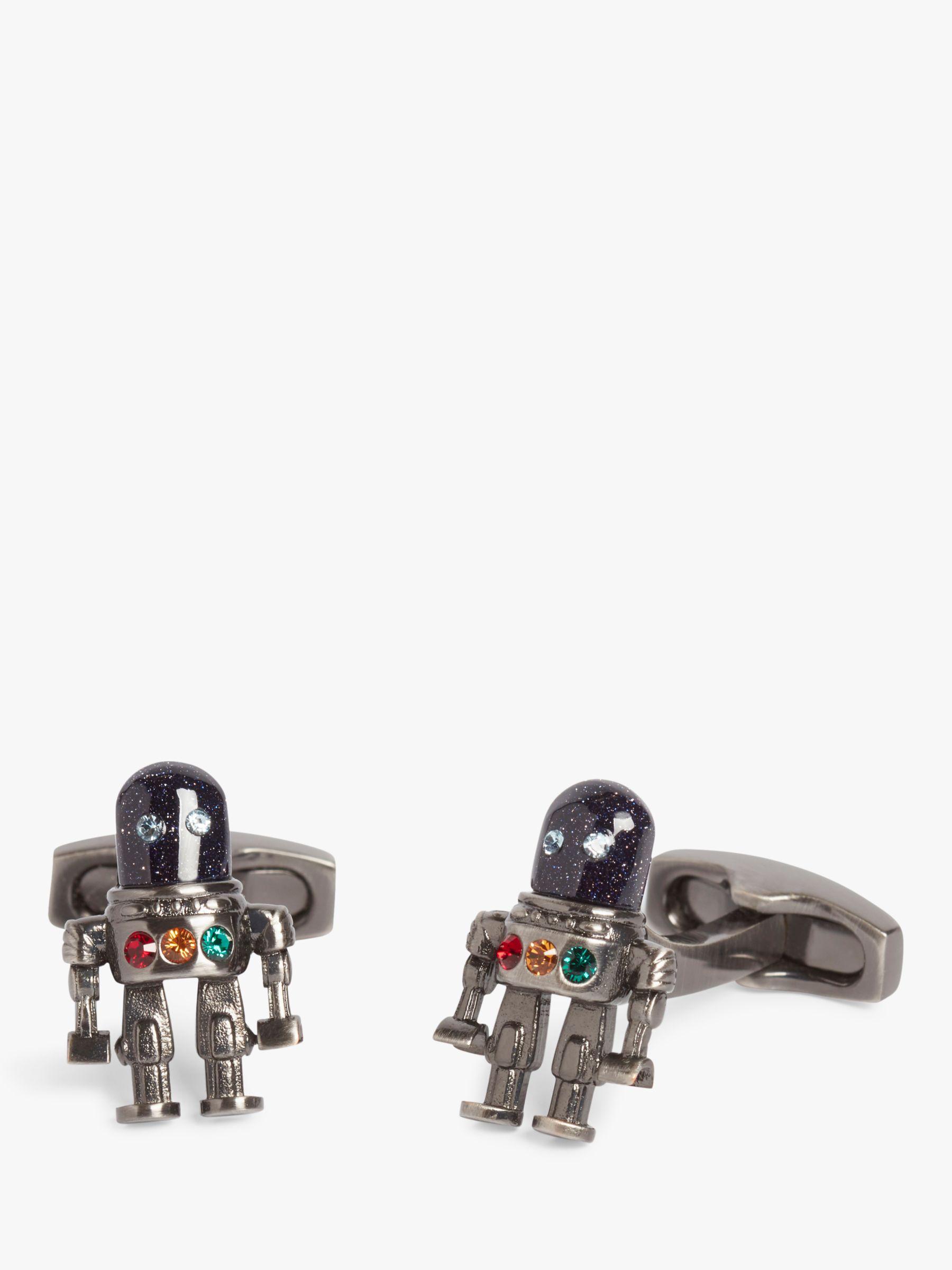 Simon Carter Simon Carter Robot Cufflinks, Grey
