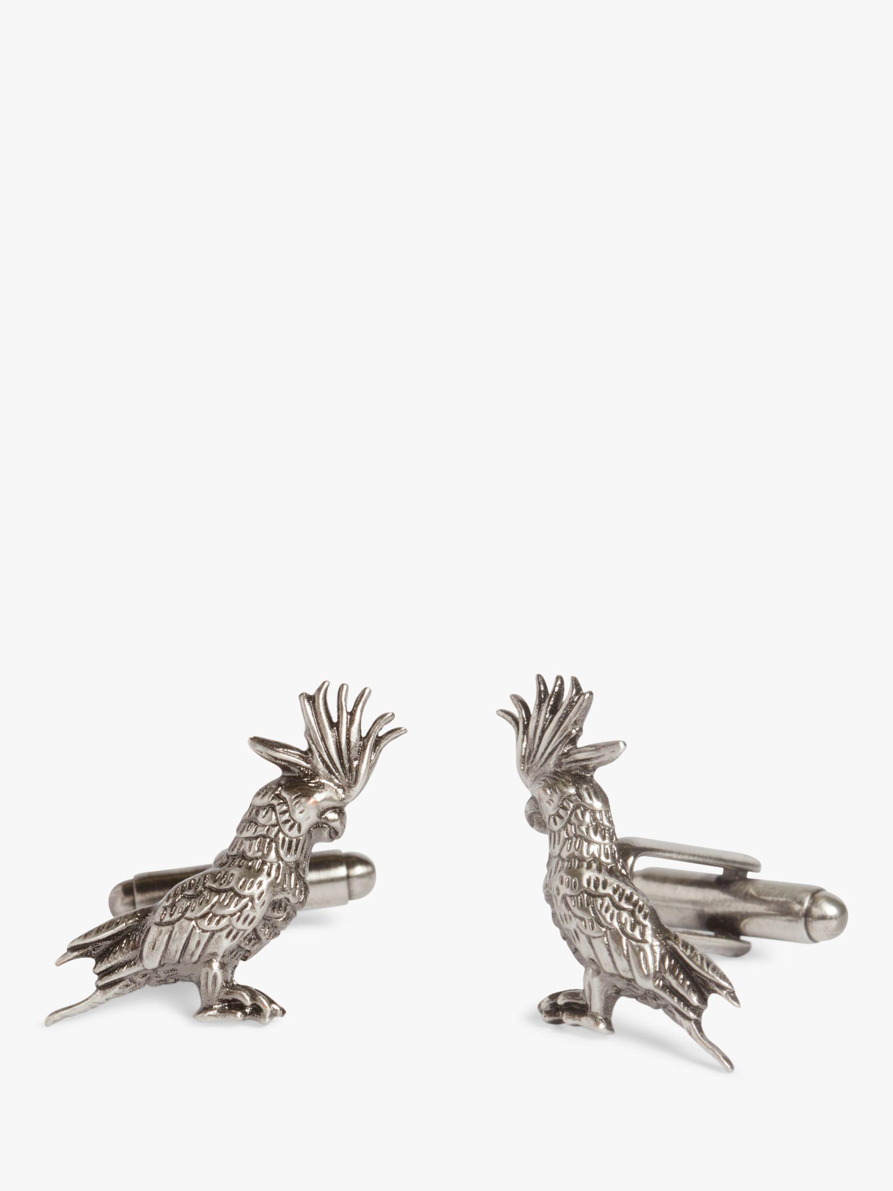 Simon Carter Simon Carter Cockatoo Cufflinks, Grey