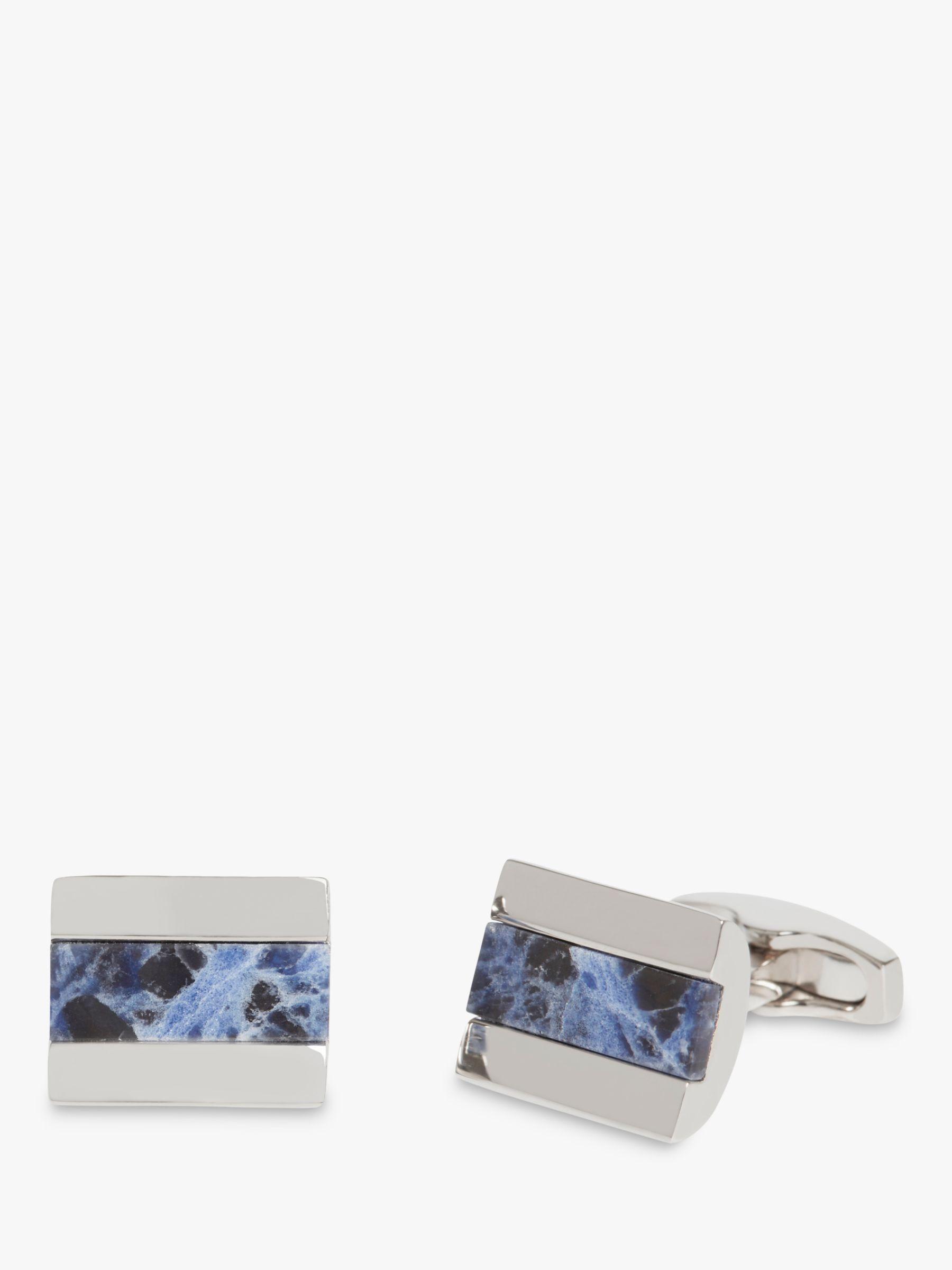 Simon Carter Simon Carter Sodalite Barrell Cufflinks, Silver