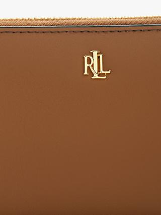 Lauren Ralph Lauren Dryden Zip Around Leather Purse, Field Brown