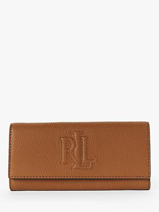 Lauren Ralph Lauren Trapunto Leather Continental Purse