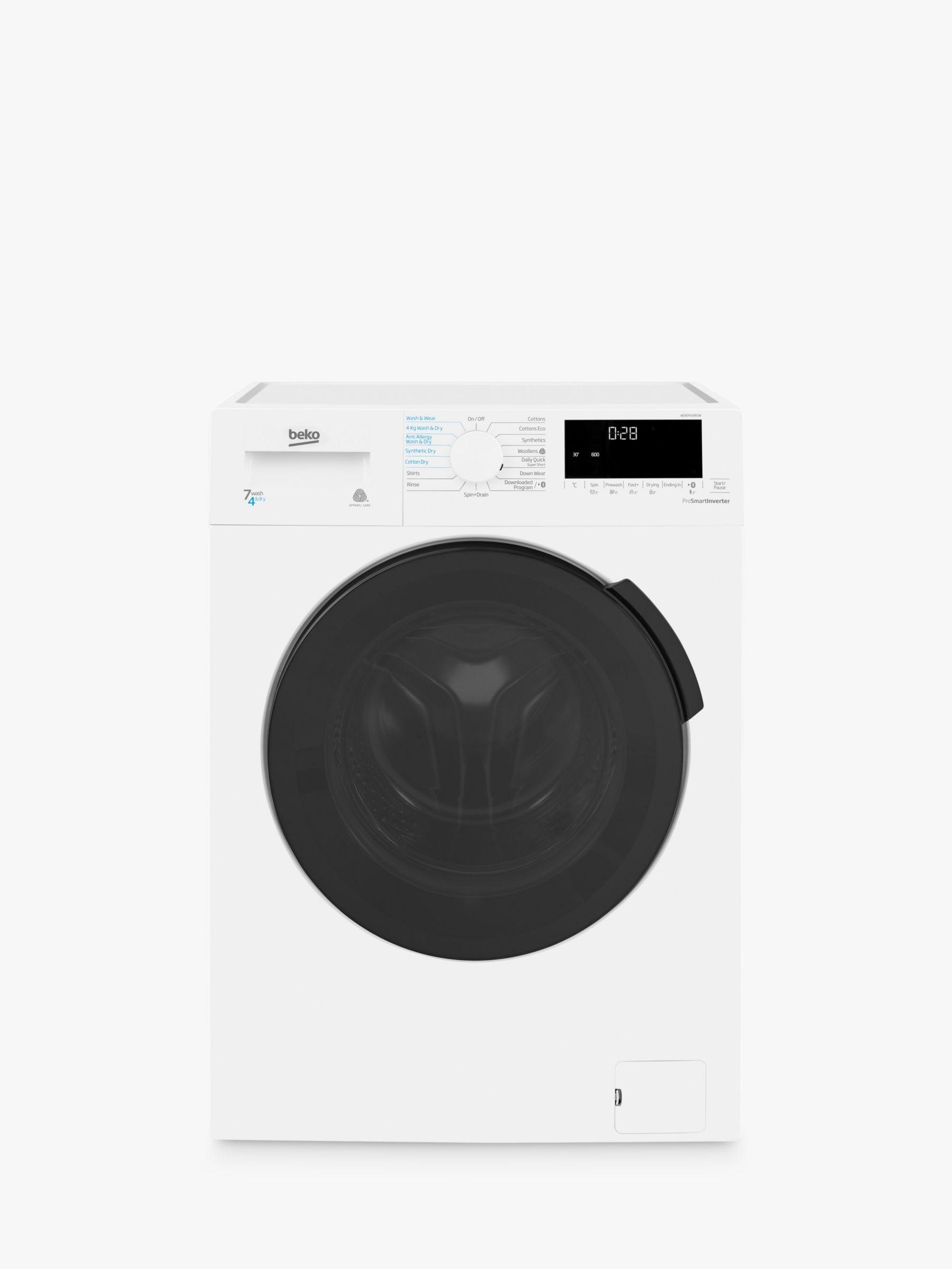 Beko Beko WDB7426R1W Freestanding Washer Dryer, 7kg Wash/4kg Dry Load, B Energy Rating, 1200rpm Spin, White