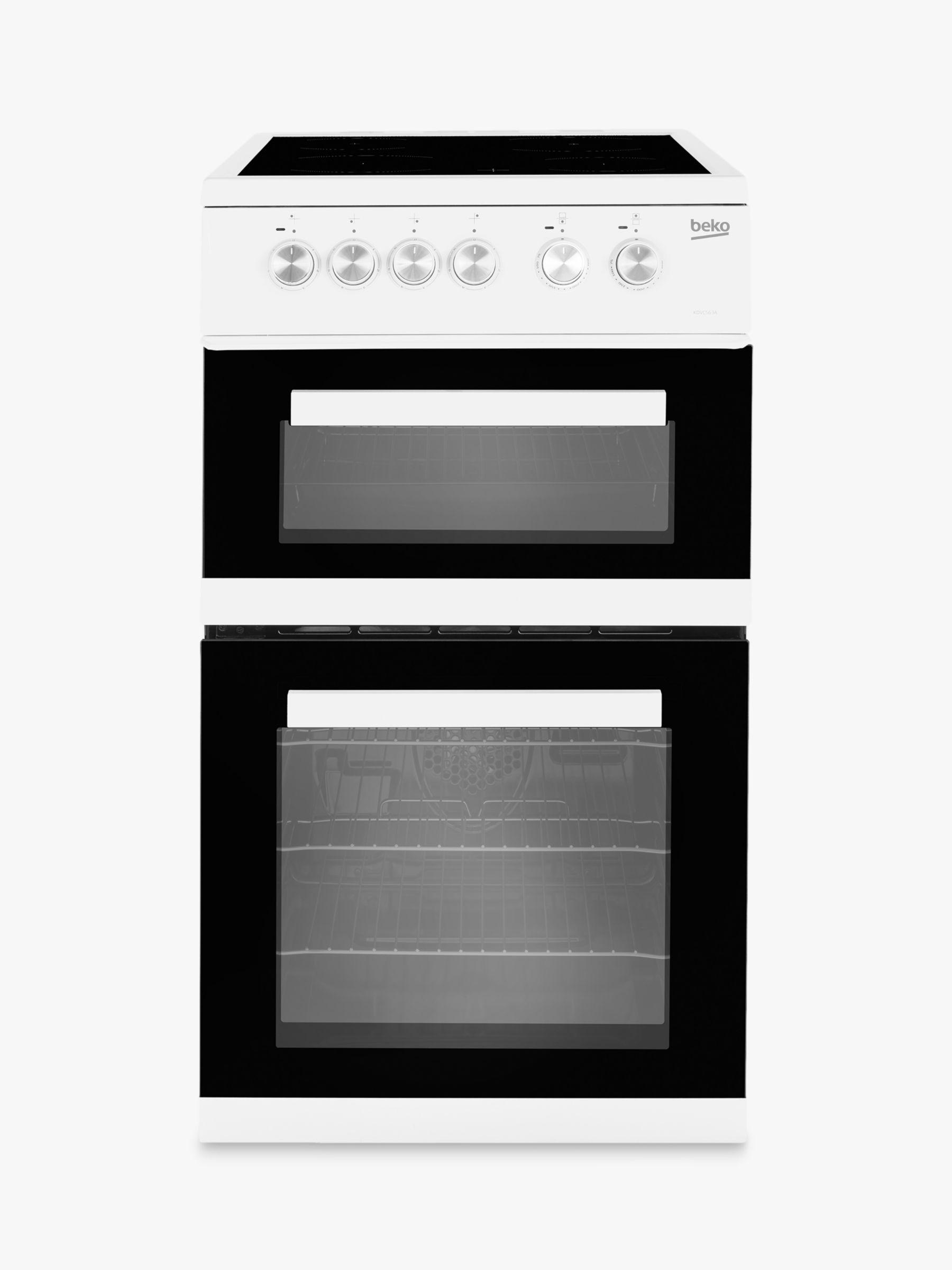 Beko Beko KDVC563AW Double Electric Oven Cooker, White