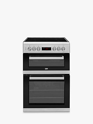 Beko KDC653S Double Electric Cooker, Silver