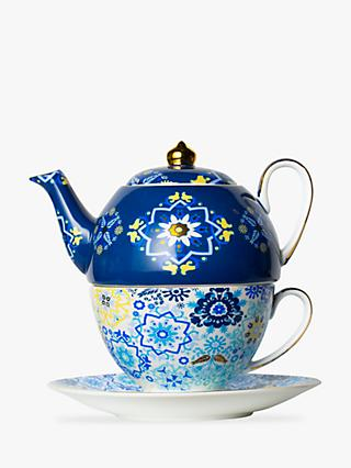T2 Portuguese Tiles Teapot For One, 440ml, Navy