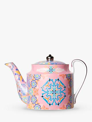T2 Portuguese Tiles Small Teapot, 400ml, Dusty Pink