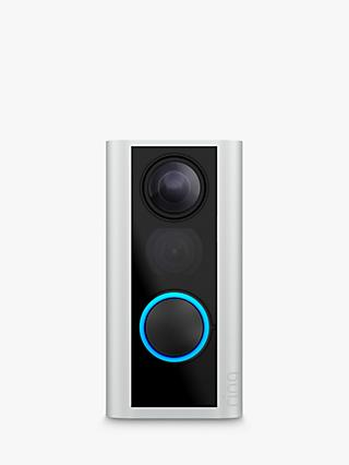 Ring Smart Door View Cam with Built-in Wi-Fi & Camera, Black with Satin Nickel