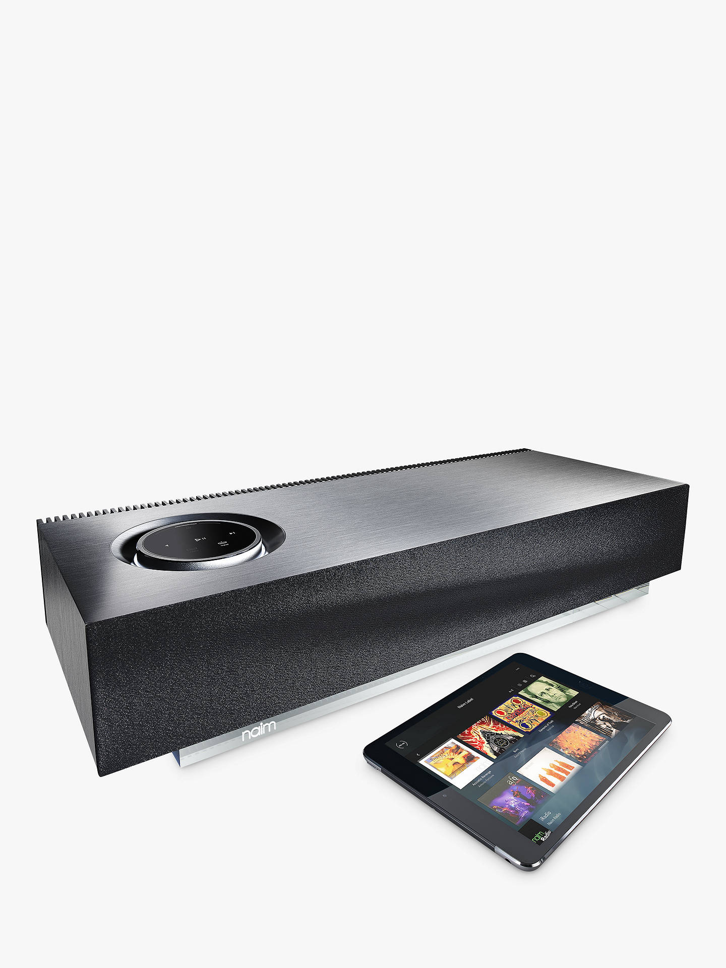 Naim Audio Mu-so Wireless Bluetooth Music System with Apple AirPlay,  Spotify Connect & TIDAL Compatibility, A-Grade Refurbished, Silver