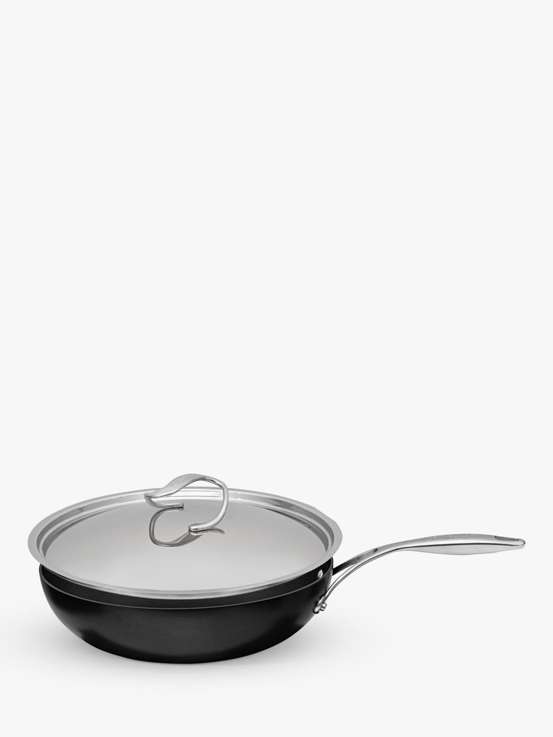 Circulon Circulon Style Hard-Anodised Aluminium Non-Stick Stir Fry Wok & Lid, 30cm, Black