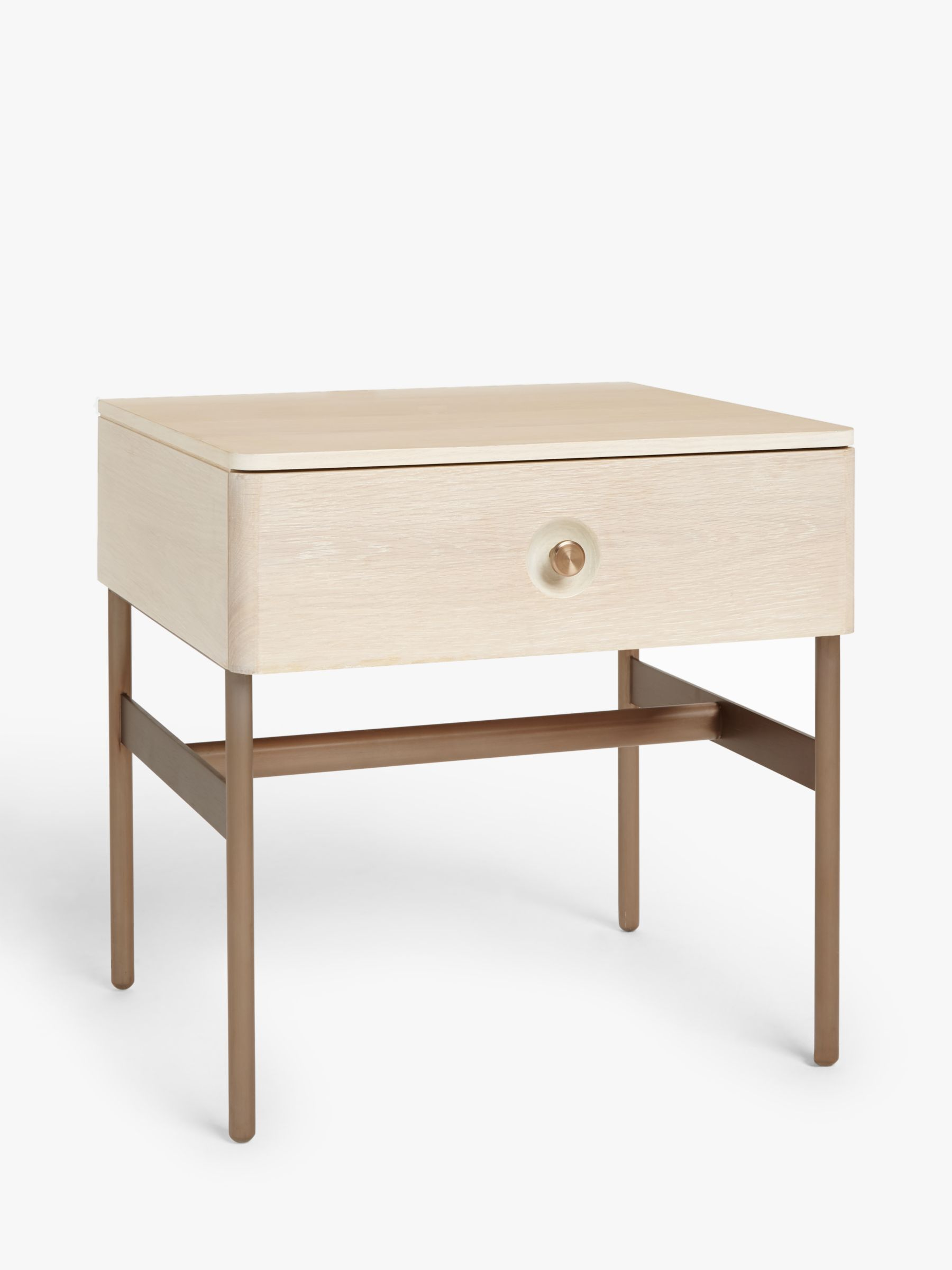 Design Project by John Lewis Design Project by John Lewis No.185 1 Drawer Bedside Table, Natural/Oak