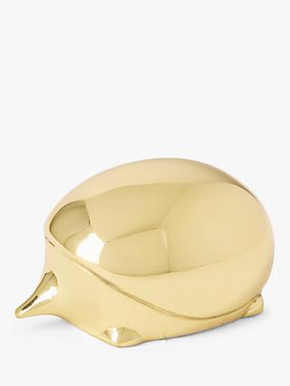John Lewis & Partners Brass Hedgehog Paperweight