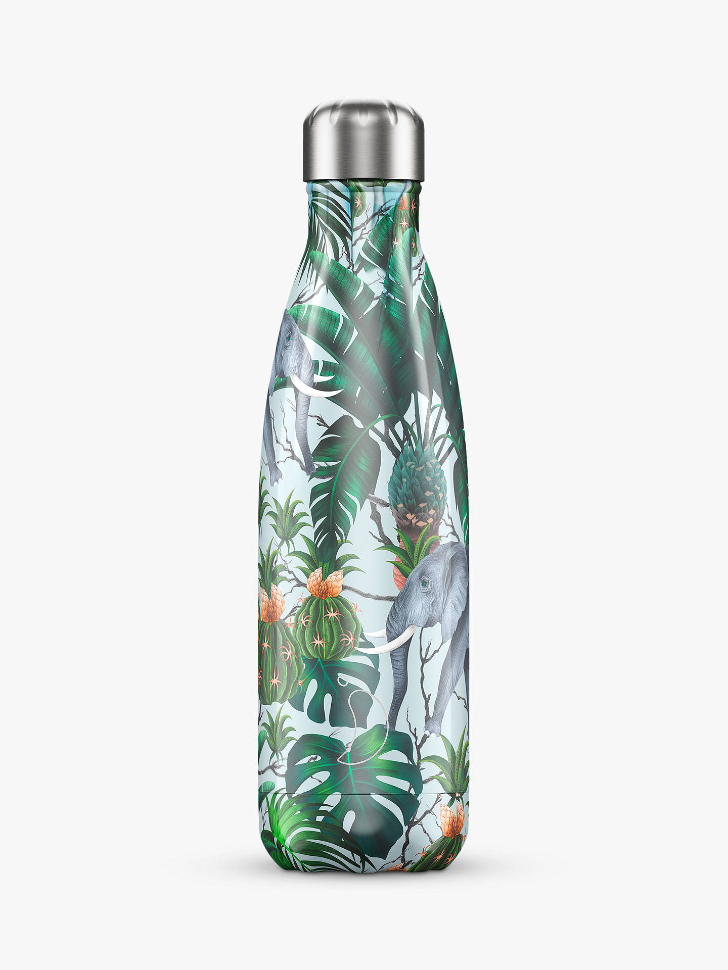 Buy Chilly's Elephant Vacuum Insulated Leak-Proof Drinks Bottle, 500ml, Green/Multi Online at johnlewis.com