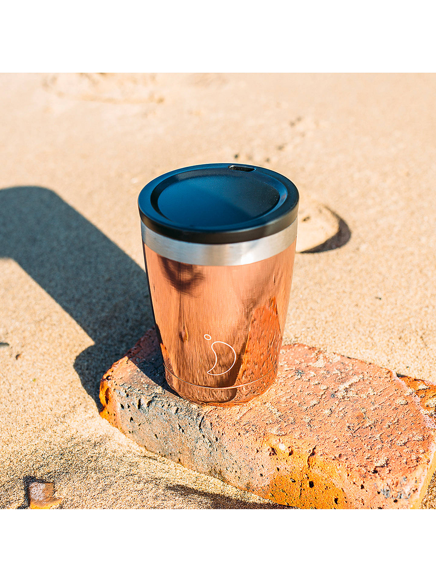 Buy Chilly's Vacuum Insulated Travel Mug, 340ml, Rose Gold Online at johnlewis.com