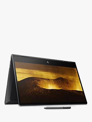 "HP ENVY x360 15-ds0002na Convertible Laptop, AMD Ryzen 7 Processor, 16GB RAM, 512GB SSD, 15.6"", Full HD, Nightfall Black"