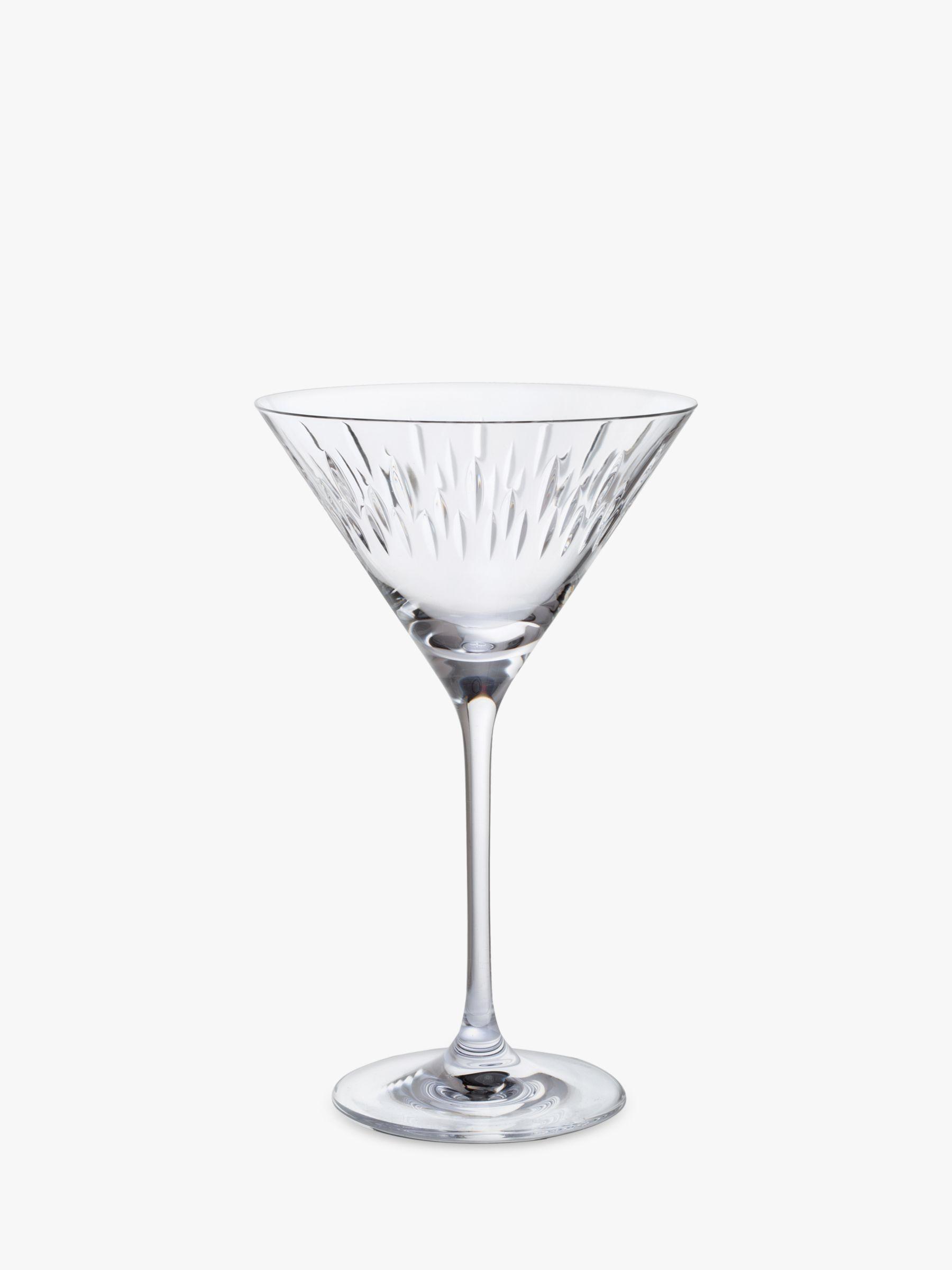 Dartington Crystal Dartington Crystal Limelight Cut Glass Martini Glasses, Set of 2, 210ml, Clear