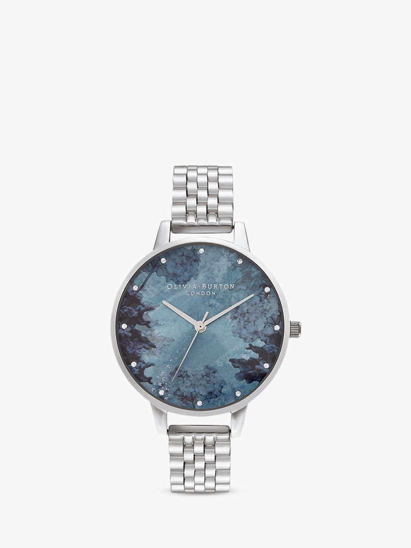 Olivia Burton Olivia Burton OB16US06 Women's Under The Sea Bracelet Strap Watch, Silver/Blue