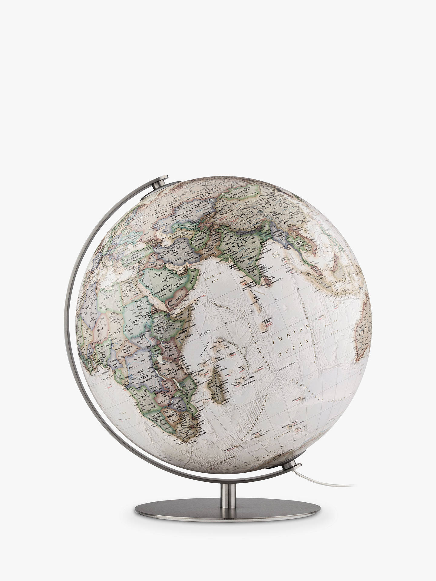 National Geographic Antique Earth Illuminated Globe 37cm Brown Multi At John Lewis Partners