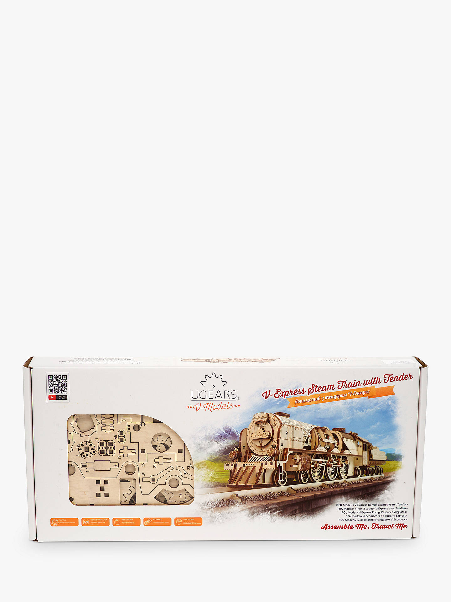 Buy UGears V-Express Steam Train 3D Puzzle Kit Online at johnlewis.com