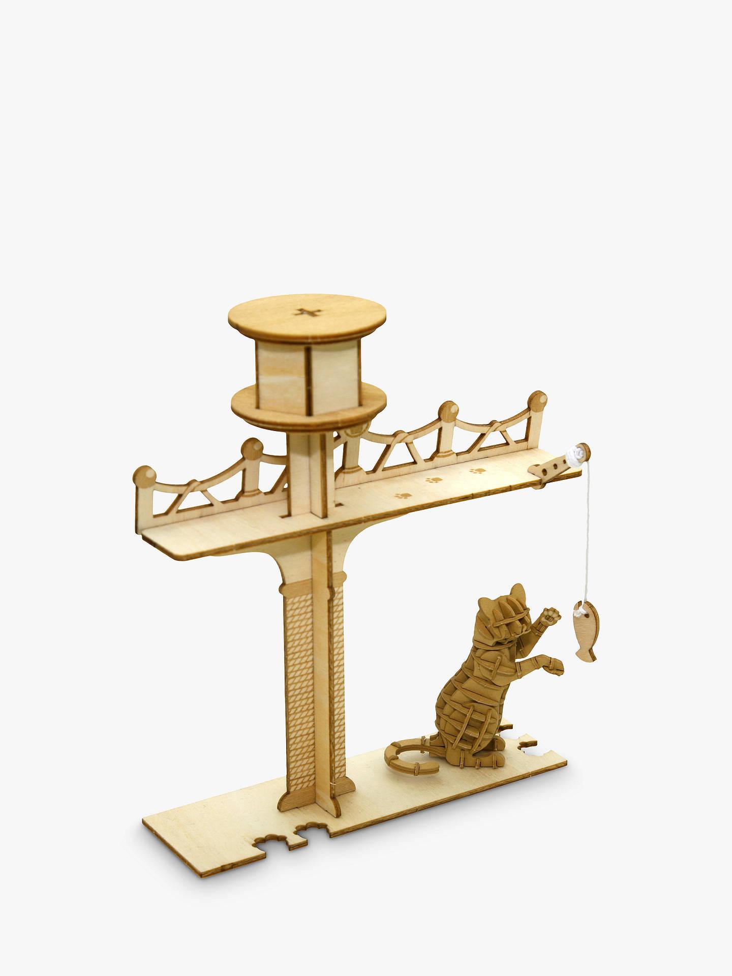 Jigzle Cat Playground 3d Puzzle Kit At John Lewis Partners