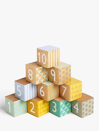 John Lewis & Partners My First Wooden Numbers Blocks