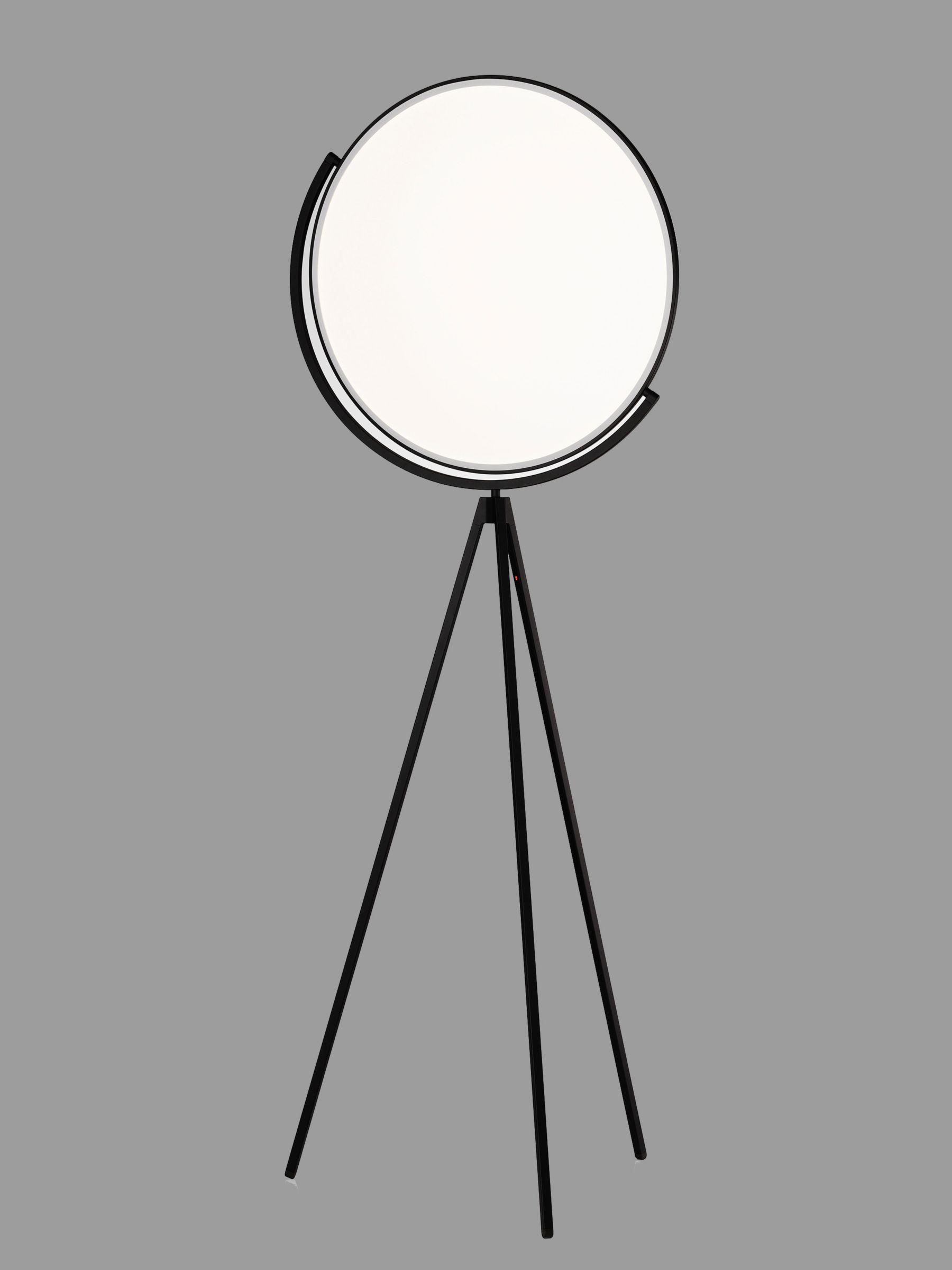 Flos Flos Superloon LED Touch Floor Lamp, Matt Black