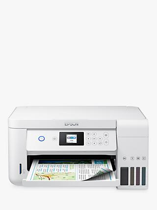 Epson EcoTank ET-2756 Three-In-One Wi-Fi Printer with High Capacity Integrated Ink Tank System, White